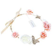 Buy Rockahula Bridal Rose and Butterfly Garland Headband, Ivory/Multi Online at johnlewis.com