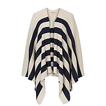 Buy Betty Barclay Knitted Poncho, Cream/Blue Online at johnlewis.com