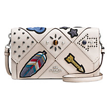 Buy Coach Leather Embellished Across Body Purse, Chalk Online at johnlewis.com