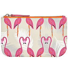 Buy John Lewis Flamingo Print Coin Purse, Flamingo Online at johnlewis.com