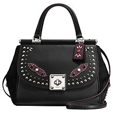 Buy Coach Western Rivets Drifter Leather Carryall Grab Bag, Black Online at johnlewis.com