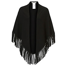 Buy Betty Barclay Fringed Shawl, Black Online at johnlewis.com