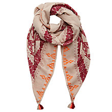 Buy Becksondergaard Aboya Tassel Scarf, Beetroot Online at johnlewis.com