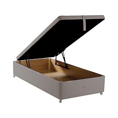 John Lewis & Partners Maxi Store Divan Storage Bed, Single, Canvas Steel