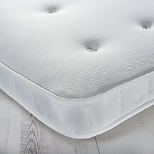 Buy little home at John Lewis 15cm Deep Open Spring Tufted Mattress, Medium, Single Online at johnlewis.com