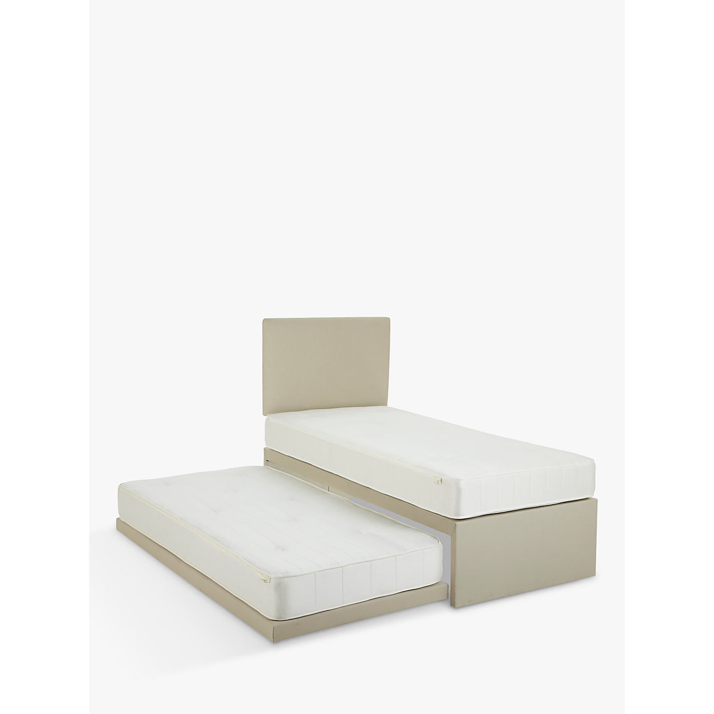 John Lewis Savoy Two Pocket Spring Trundle Guest Bed Small Single Online At Johnlewis