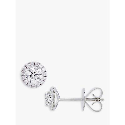 E.W Adams 18ct White Gold Diamond Cluster Stud Earrings, 0.46ct