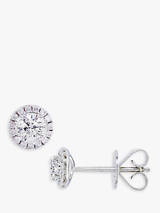 E.W Adams 18ct White Gold Diamond Cluster Stud Earrings, 0.46ct
