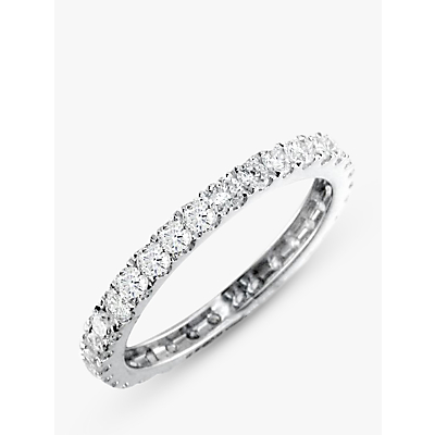 Image of EWA 18ct White Gold Brilliant Cut Diamond Full Eternity Ring, 0.85ct