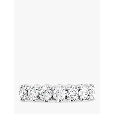 E.W Adams 18ct White Gold Diamond Half Eternity Ring, 1.06ct