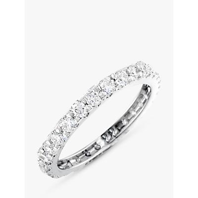 E.W Adams Platinum Diamond Full Eternity Ring, 1.40ct