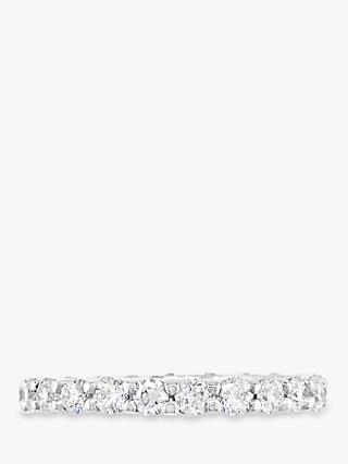 E.W Adams Platinum Diamond Full Eternity Ring, 1.40ct