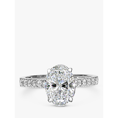 E.W Adams Platinum Oval Cut Diamond Engagement Ring. 0.50ct