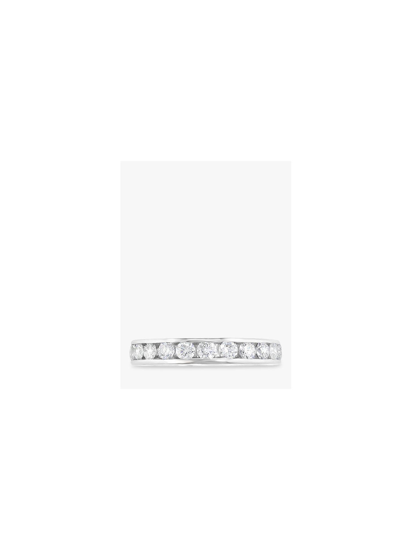 BuyEWA Platinum Channel Set Brilliant Cut Diamond Full Eternity Ring, 1.08ct Online at johnlewis.com