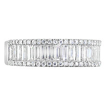 Buy EWA 18ct White Gold Baguette and Brilliant Cut Diamond Eternity Ring, 1.20ct Online at johnlewis.com