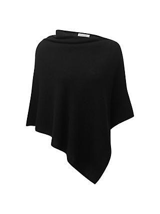 Pure Collection Cadence Gassato Cashmere Poncho, Black
