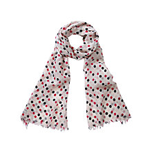 Buy Pure Collection Mowbray Soft Wool Scarf, Spot Print Online at johnlewis.com