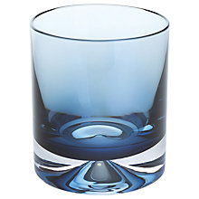 Buy Dartington Crystal Dimple 50th Ink Blue Old Fashioned Tumbler, Set of 2 Online at johnlewis.com
