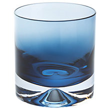 Buy Dartington Crystal Dimple 50th Ink Blue Double Old Fashioned Tumbler, Set of 2 Online at johnlewis.com