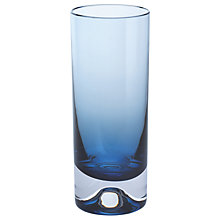 Buy Dartington Crystal Dimple 50th Ink Blue Highball, Set of 2 Online at johnlewis.com