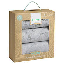 Buy The Little Green Sheep Wild Cotton Baby Bear Crib Bedding Set, Pack of 3, Grey Online at johnlewis.com
