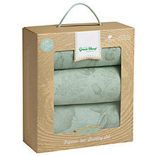 Buy The Little Green Sheep Wild Cotton Baby Rabbit Crib Bedding Set, Pack of 3, Mint Online at johnlewis.com