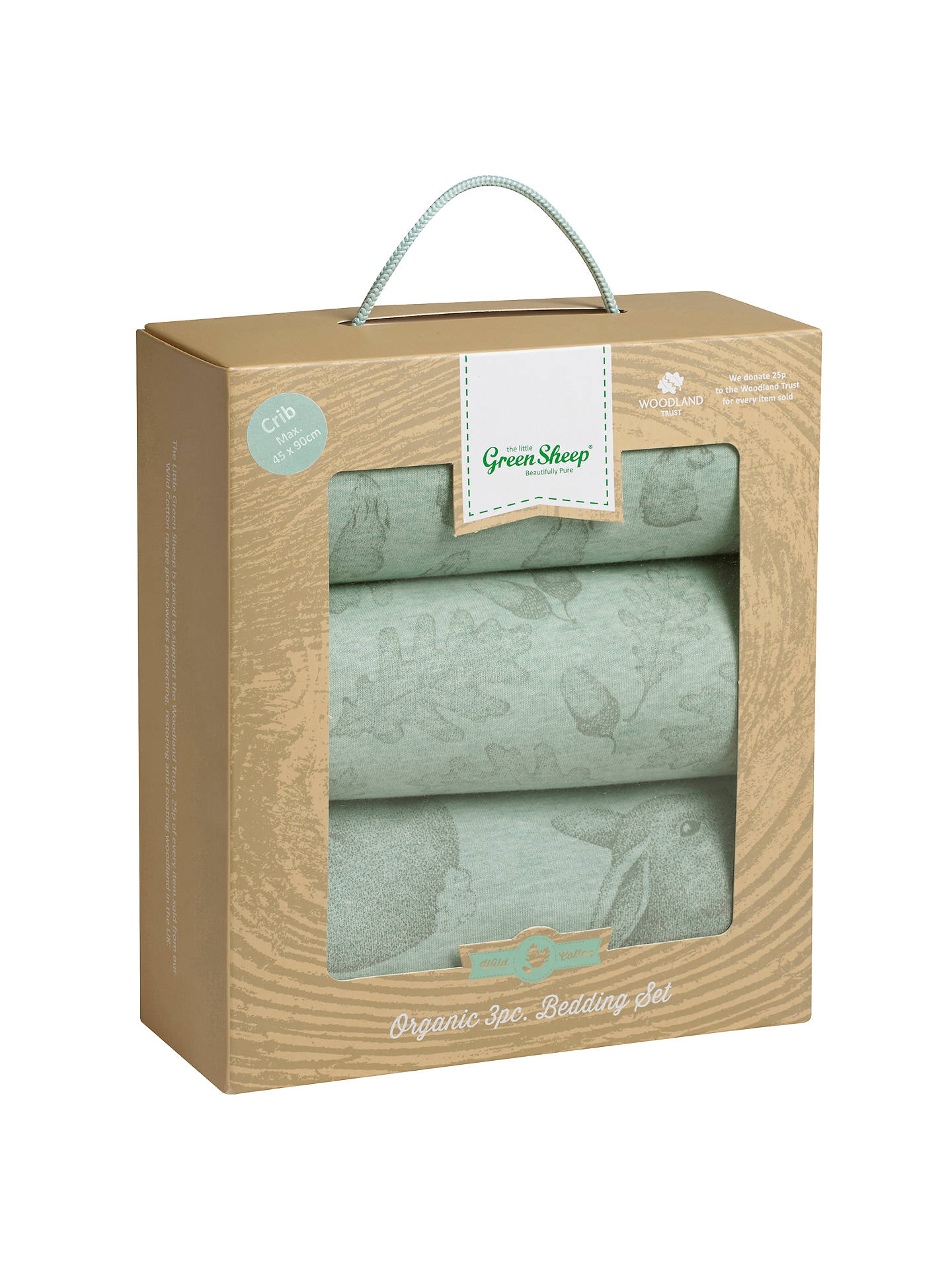 BuyThe Little Green Sheep Wild Cotton Baby Rabbit Crib Bedding Set, Pack of 3 Online at johnlewis.com