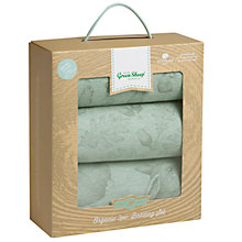 Buy The Little Green Sheep Wild Cotton Baby Rabbit Moses/Pram Bedding Set, Pack of 3, Mint Online at johnlewis.com