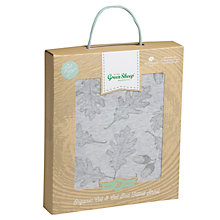 Buy The Little Green Sheep Wild Cotton Leaf Cotbed Fitted Sheet, Grey Online at johnlewis.com