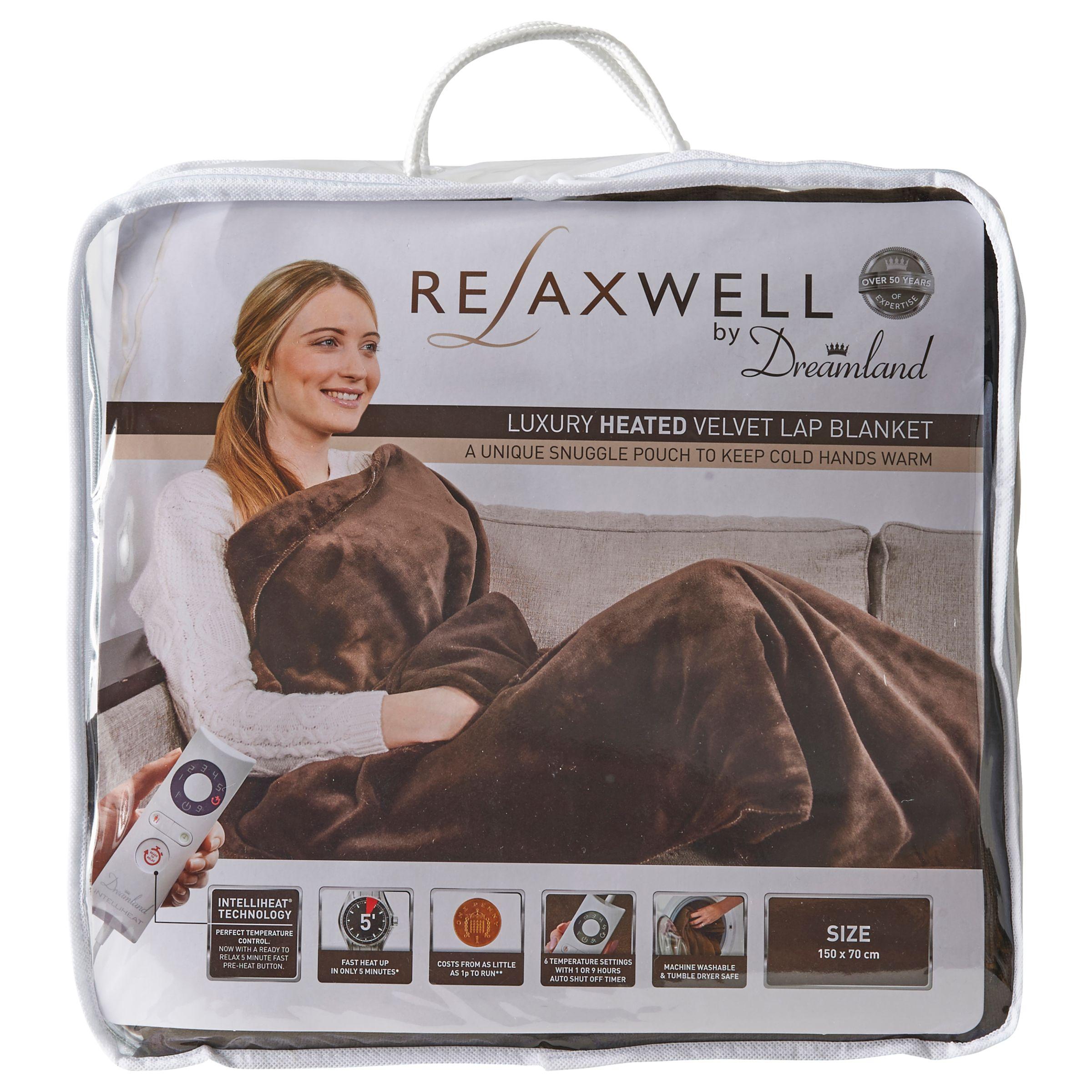Dreamland 16335 Relaxwell Luxury Heated Velvet Lap Blanket At John Lewis Partners