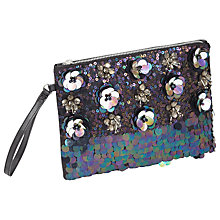 Buy Miss Selfridge 3D Applique Clutch Bag, Navy Online at johnlewis.com