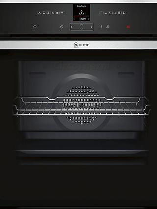 Neff B57CR22N1B Slide and Hide Pyrolytic Single Electric Oven, Stainless Steel