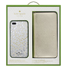 Buy kate spade new york gift set for Iphone 7 Plus, Gold Confetti Online at johnlewis.com