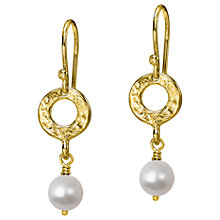 Buy Dower & Hall Open Circle Freshwater Pearl Drop Earrings Online at johnlewis.com