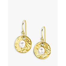 Buy Dower & Hall Sterling Silver Pearlicious Round Drop Earrings Online at johnlewis.com