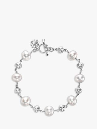 Dower & Hall Sterling Silver Pearlicious Pearl Nugget Bracelet