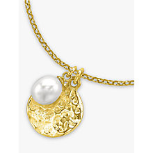 Buy Dower & Hall Pearlicious Disc and Pearl Pendant Necklace Online at johnlewis.com