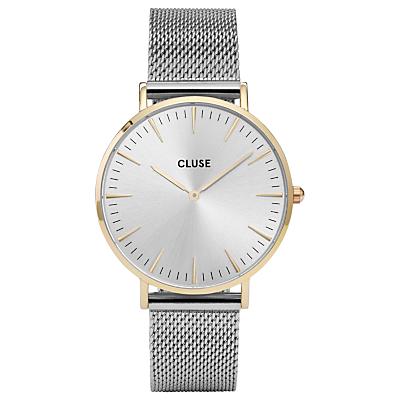 CLUSE CL18115 Women's La Boheme Mesh Bracelet Strap Watch, Silver
