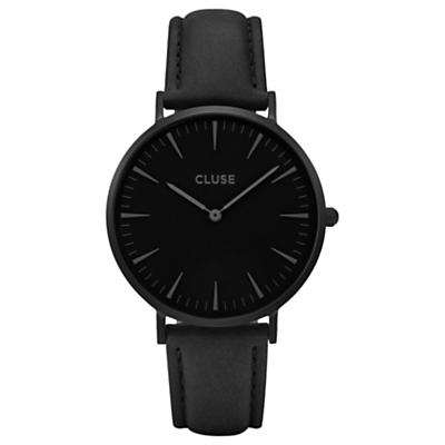 CLUSE Women's La Boheme Leather Strap Watch