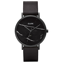Buy CLUSE CL40001 Women's La Roche Leather Strap Watch, Black Online at johnlewis.com