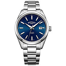 Buy Rotary Men's Havana Automatic Date Bracelet Strap Watch Online at johnlewis.com