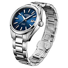 automatic or self winding men s watches john lewis buy rotary men s havana automatic date bracelet strap watch online at johnlewis com