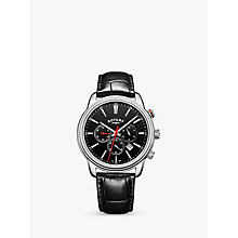 Buy Rotary GS05083/04 Men's Monaco Chronograph Date Leather Strap Watch, Black Online at johnlewis.com