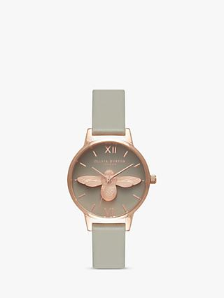 Olivia Burton Women's Animal Motifs Bee Leather Strap Watch