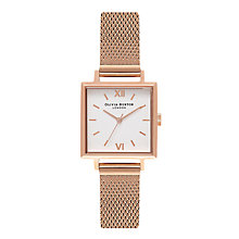 Buy Olivia Burton Women's Midi Square Detail Mesh Bracelet Strap Watch Online at johnlewis.com