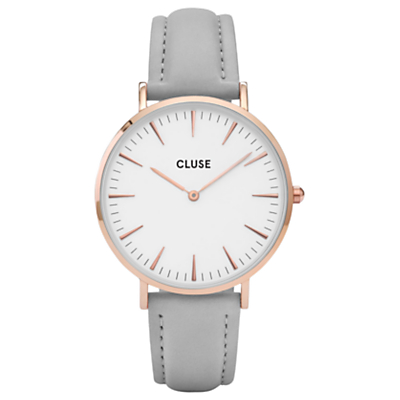 CLUSE Women's La Boheme Rose Gold Leather Strap Watch