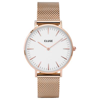 CLUSE Women's La Boheme Mesh Bracelet Strap Watch