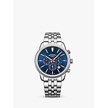 Buy Rotary GB05083/05 Men's Monaco Chronograph Date Bracelet Strap Watch, Silver/Blue Online at johnlewis.com