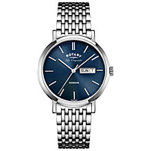 Buy Rotary Men's Les Originales Windsor Day Date Bracelet Strap Watch Online at johnlewis.com
