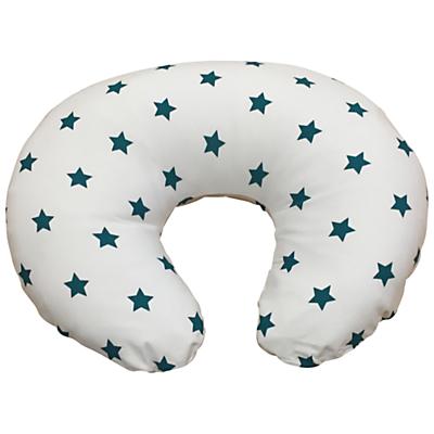 Widgey Donut Nursing Pillow Cover, Teal Star